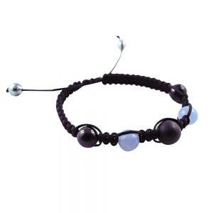 Tahiti Pearls, Aquamarine, Black Tourmaline and White Gold Bracelet
