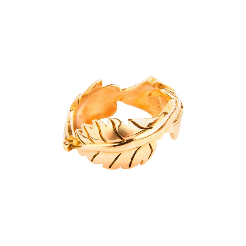 18ct Rose Gold Leaf Ring