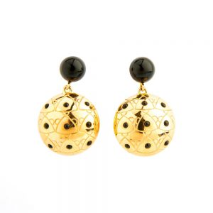 18K Yellow Gold Sea Urchin Earrings