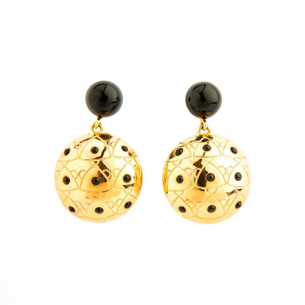 18K Yellow Gold Sea Urchin Earrings
