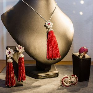 Haute Couture Spinel Necklace & Earrings